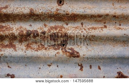 Rusty galvanized iron plate for texture background