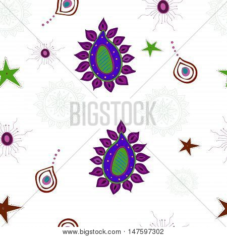Seamless pattern of large and small items.