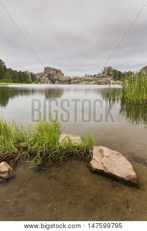 A scenic lake in the Black Hills of South Dakota.