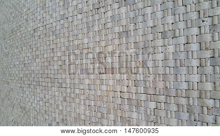 Surface wall of stone wall for use as background. The new design of modern stone wall. pattern of decorative stone wall surface