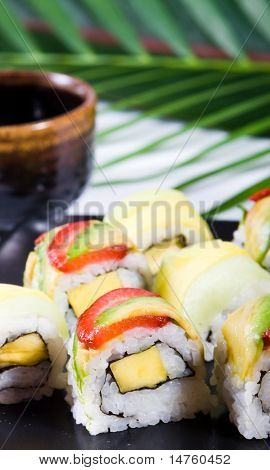 japanese sushi closeup