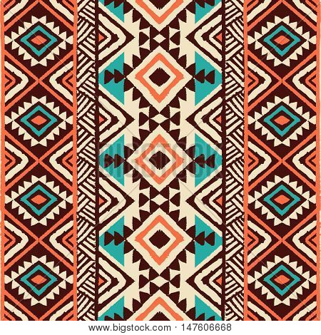 Ethnic Geometric Pattern. Ethnic background. Vector Illustration