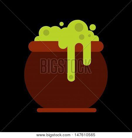 flat icon on stylish background halloween witches cauldron