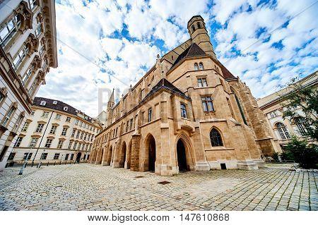 Minoriten Church (Minoritenkirche) in Vienna city. Construction of the church was completed in 1350. Austria