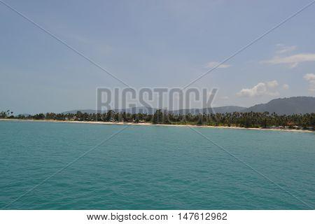 The beach of Lipa Noi or Tong Yang. Samui