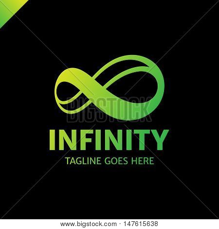 Infinite Limitless Symbol Icon Or Logo Design Template. Corporate Branding Identity