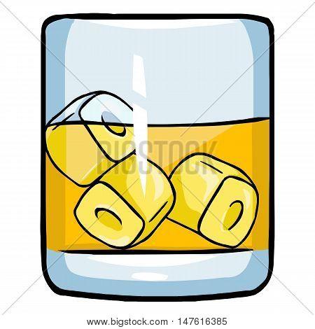 Vectror Cartoon Glass Of Whiskey