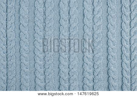 gray Fabric wool texture. Cloth knitted background.