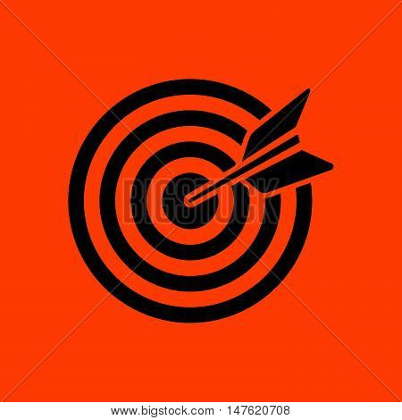 Target With Dart In Bulleye Icon