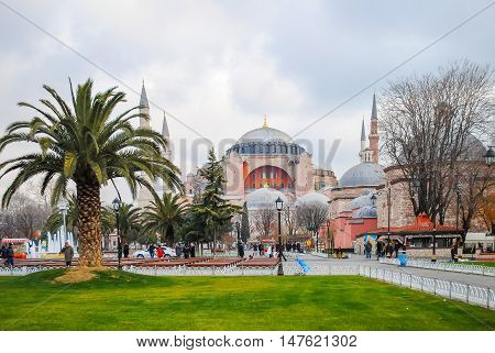 Istanbul Aya Sophia Mosque - January 7/2013: Orthodox Pilgrims Visited The Aya Sofia Mosque During T
