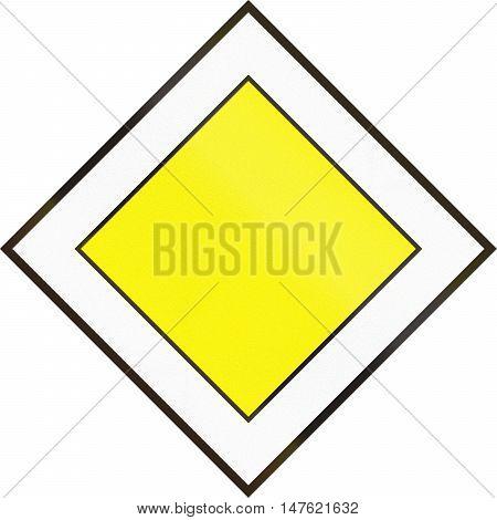 Hungarian Regulatory Road Sign - Priority Road
