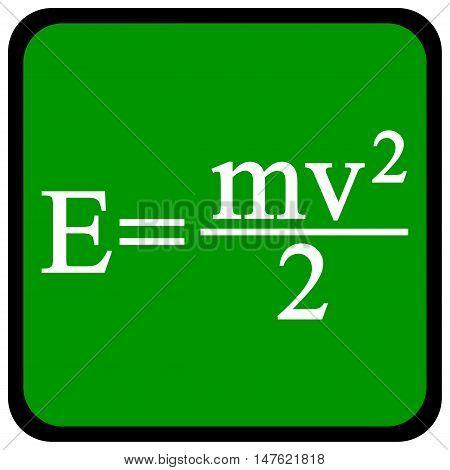 Formula on a green school board. Vector illustration.