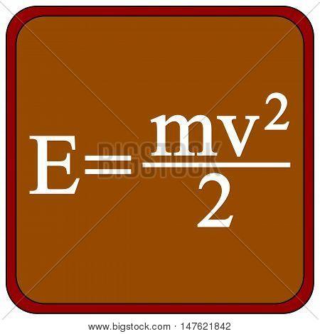 Formula on a brown school board. Vector illustration.