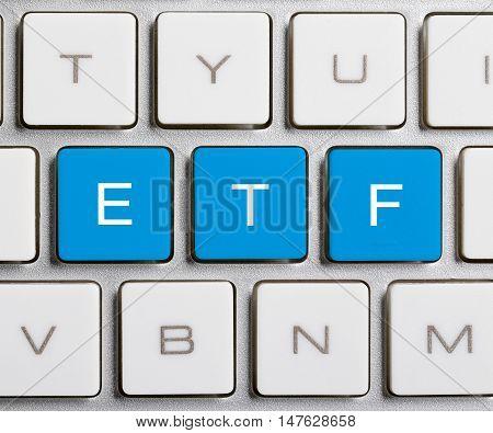 Etf Word On Keyboard Button