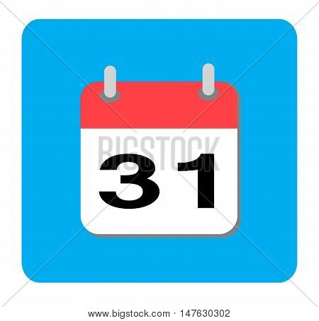 Calendar icon, Flat calendar icon, Calendar icon on white background