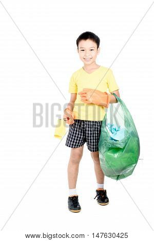 Keep Garbage In Bag For Eliminate