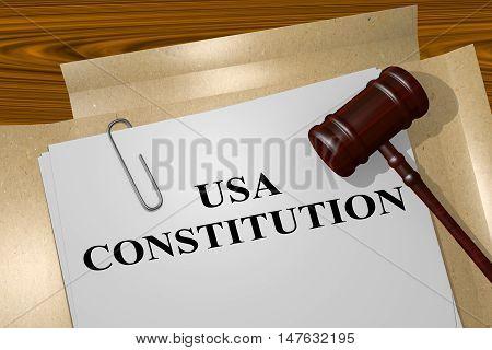 Usa Constitution - Legal Concept