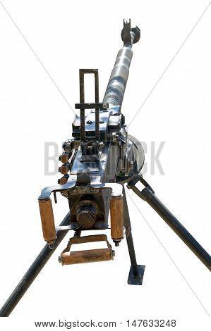 DShK 1938 Soviet heavy machine gun firing the 12.7