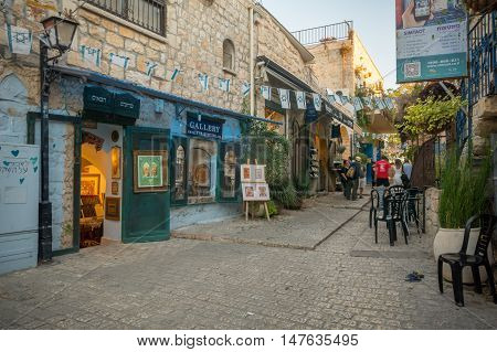 Alley Scene In Safed (tzfat)