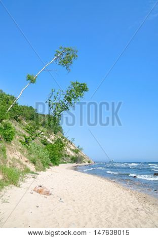 Coastal Landscape near Sellin on Ruegen Island at baltic Sea,Mecklenburg western pomerania,Germany