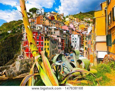 Riomaggiore, Cinque Terre National Park, Liguria, La Spezia Italy