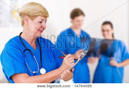 senior medical professional in hospital
