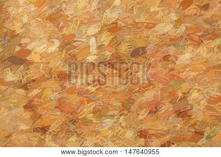 Wooden or feather like brown pattern as full frame abstract background with copy space