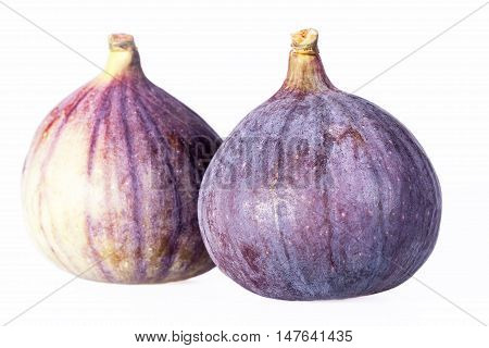 Fruits of fresh figs isolated on white background.