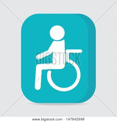 Disabled icon sign Disabled button vector illustration