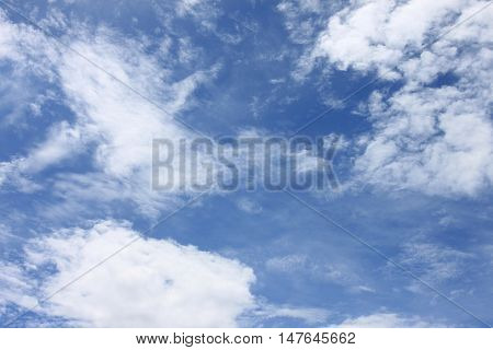 Cloud on blue sky in the daytime of high view.