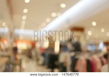 Blur of department stores and have bokeh Light for the design background.