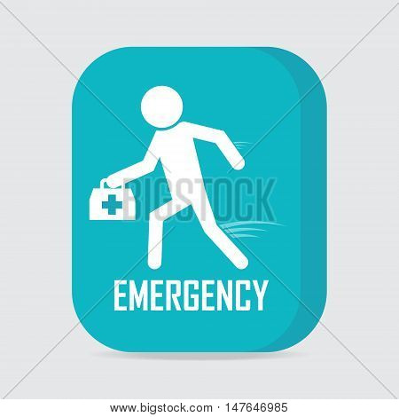 Emergency medical services concept Rescue icon vector illustration