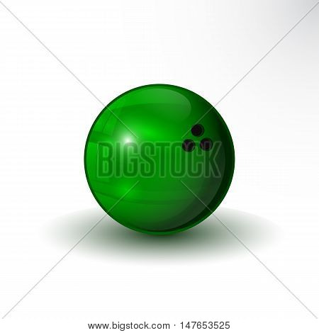 The vector eps10 bowling ball green color