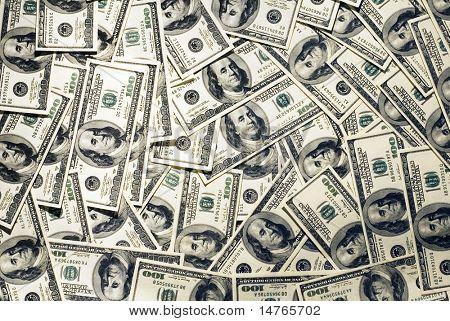 A lot of dollars in hundred bills