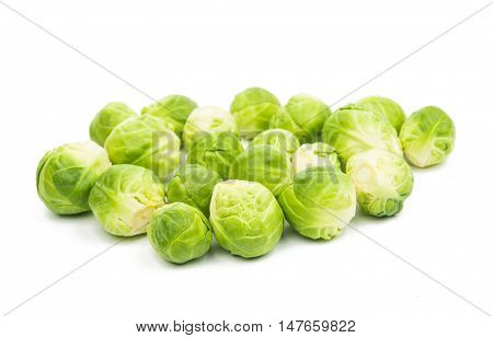 Brussels sprouts dieting food isolated on white background