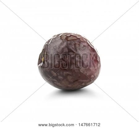 Passionfruit, isolated on white