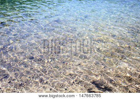Clear Lake Water taken at Lake Fusini in Italy