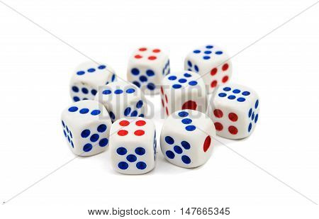 game object dice isolated on a white background