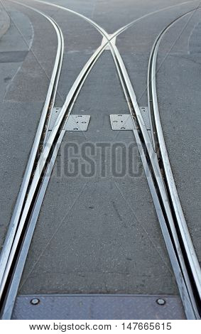 Right or left. Or where. Rails with switch