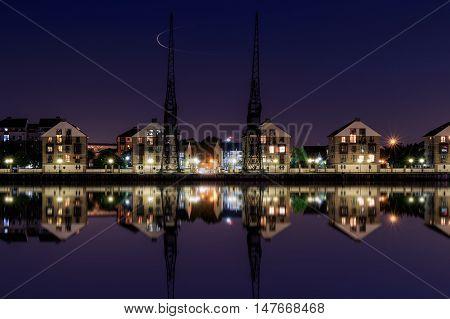 Royal Victoria Dock At Twilight