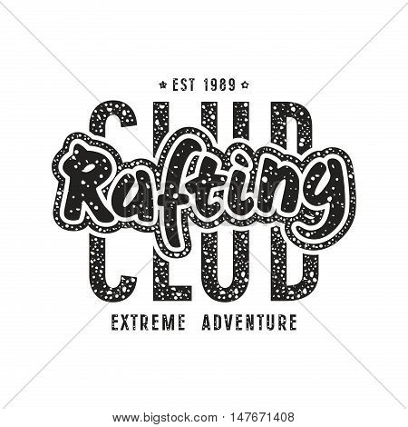 Rafting Club Emblem In Retro Style