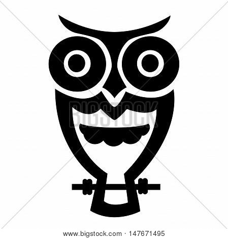Vector image of an owl on white background. Decorative owl on a white background. Old bicycle flat cartoon vector illustration. Eps10.