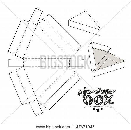 Stock Vector Box For Pizza Slice