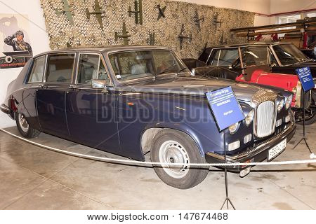 Moscow, Russia -September 4, 2016: Car Daimler Jaguar (1990) in