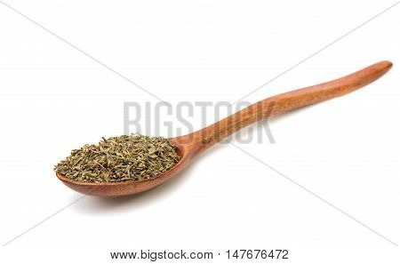 india spice thyme on a white background