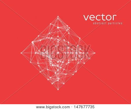 Vector Abstract Illustration Of Simple Shape - Rhomb.