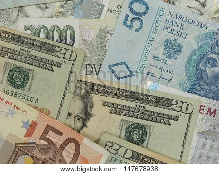 Mixed Currency Notes