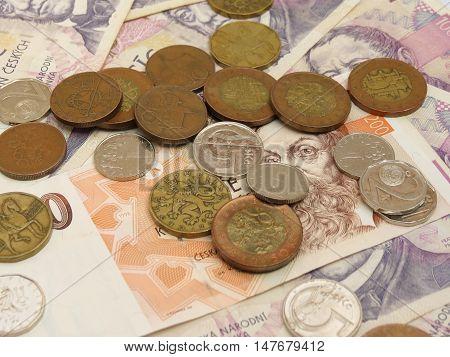 Czech Koruna Coins And Notes