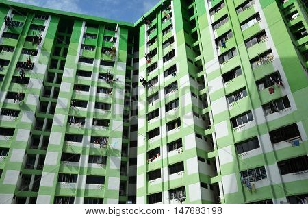 Green Building With Blue Sky