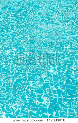 Light hits the surface of the pool. The dimension of the surface background